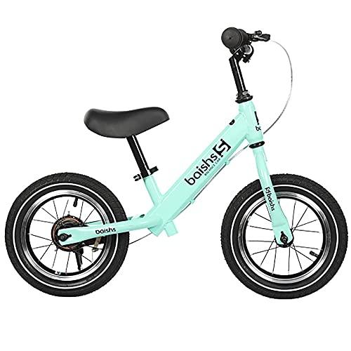 ASDF Balance Bikes Bicicleta de Equilibrio para niño de 2 años, Bicicleta para niños pequeños de 12 Pulgadas con Asiento Ajustable y Asiento Ajustable, Bicicleta de Equilibrio para niños/niñas