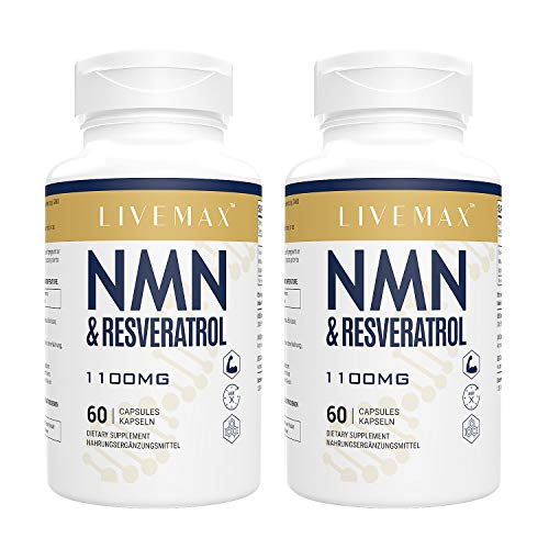 Maximale Absorption Trans-Resveratrol 600mg + NNN 500mg | 60 Vegane Kapseln | Hohe Antioxidantien | Vegan | Glutenfrei | Non GMO (60 Count X 2)