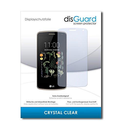disGuard® Bildschirmschutzfolie [Crystal Clear] kompatibel mit LG K5 [3 Stück] Kristallklar, Transparent, Unsichtbar, Extrem Kratzfest, Anti-Fingerabdruck - Panzerglas Folie, Schutzfolie