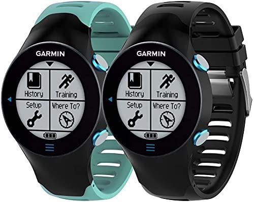 Classicase Compatible con Garmin Forerunner 610 Correa de Reloj, Banda de Reemplazo Silicona Suave Sports Pulsera (Pattern 1+Pattern 7)