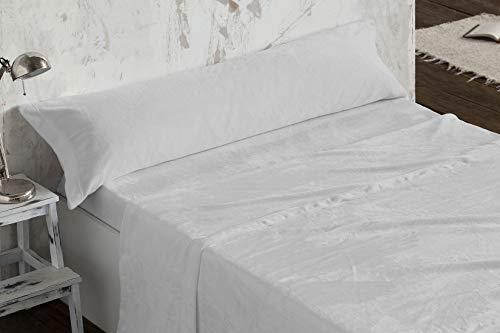Burrito Blanco - Juego de sábanas Coralina 953 Gris para Cama de 180x190/200 cm