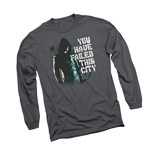 This City - CW's Arrow TV Show Adult Long-Sleeve T-Shirt, Medium Gray
