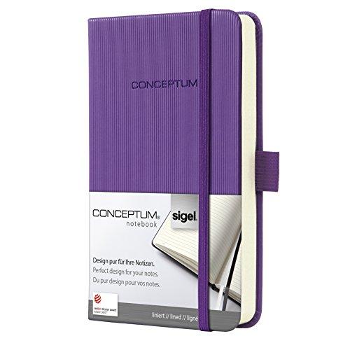 SIGEL CO570 Notizbuch, ca. A6, liniert, Hardcover, violett, Conceptum - viele Modelle