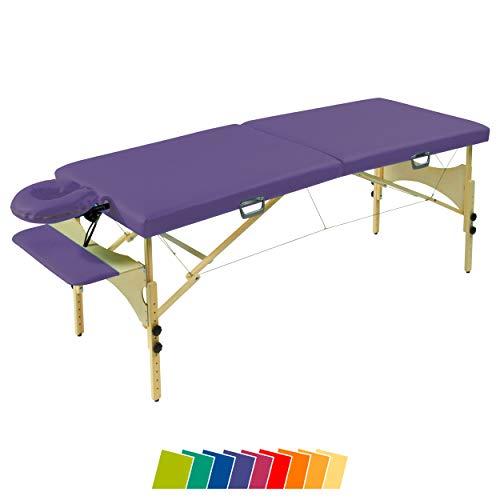 Maletín Masaje Banco Optima, maleta Camilla de masaje, para camilla de masaje, 65cm morado