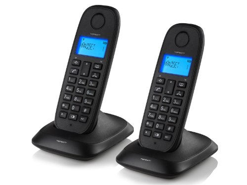 Topcom TE-5732 schnurloses DECT-Telefon (2-er Set) schwarz