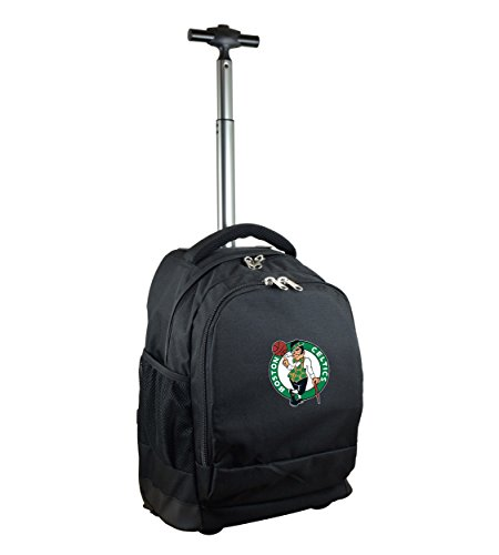 NBA Boston Celtics Expedition Wheeled Backpack, 19-inches, Black