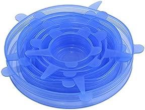 Cikuso Tapas de estiramiento de silicona 6 paquetes de diferentes tamanos Cubiertas de alimentos para tazas, ollas, latas, platos, jarras