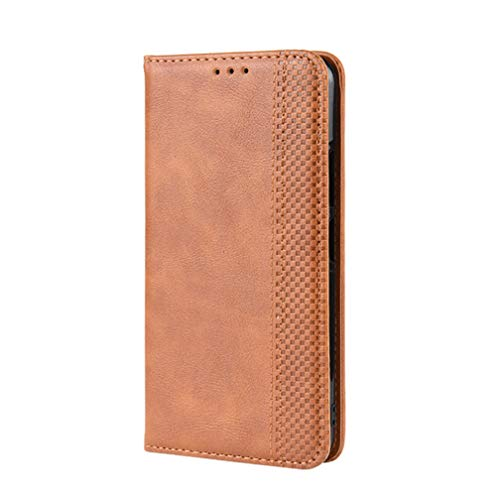 KERUN Hülle für Xiaomi Mi 10T Lite 5G, Leder Flip Klappbar Lederhülle, TPU Folio Flip Wallet Cover Stand [Kartenslots] Schutzhülle Hülle für Xiaomi Mi 10T Lite 5G. Braun