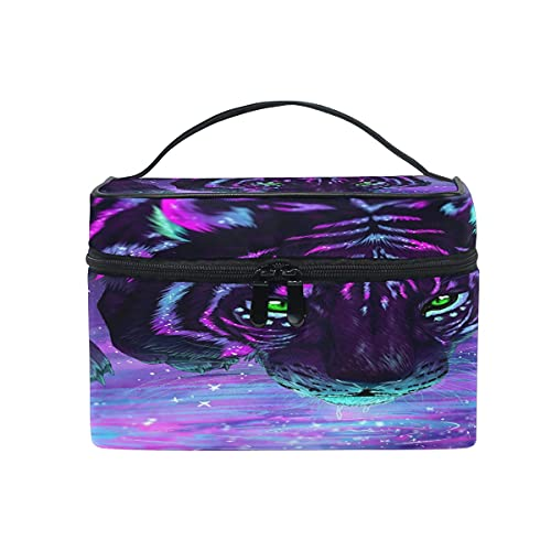 Tiger Glaxy - Bolsa de cosméticos para viajes, maquillaje, tren, organizador de almacenamiento