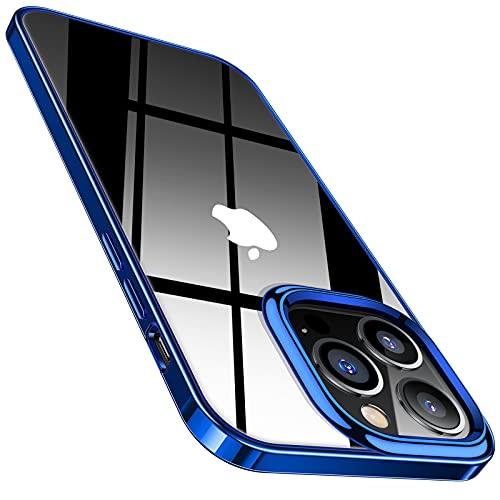 TORRAS Crystal Clear für iPhone 13 Pro Hülle (Nicht Vergilbend) Ultra Dünn & Weiches Komfortabler iPhone 13 Pro Hülle Stoßfeste Handyhülle iPhone 13 Pro Schutzhülle,Blau