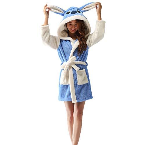 YPDM nachthemd lente herfst met capuchon vrouwen badjas cartoon badjas dier warme ochtendjas zachte vrouwen sleepwears roben