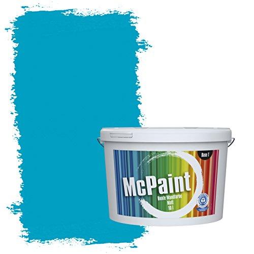 McPaint Bunte Wandfarbe Azurblau - 10 Liter - Weitere Blaue Farbtöne Erhältlich - Weitere Größen Verfügbar