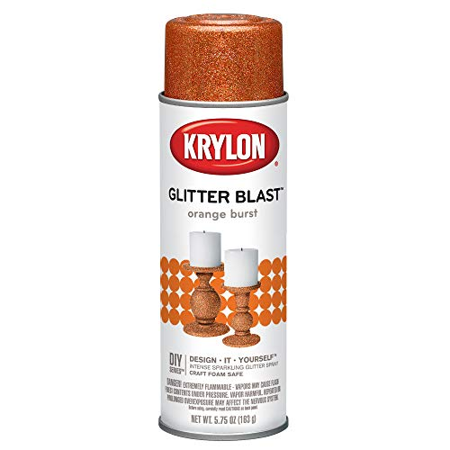 Krylon Glitter Blast Glitter Spray Paint for Craft Projects, Orange Burst