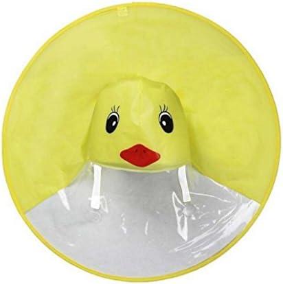 Iusun Raincoat Foldable UFO Umbrella Cap Rain Coat UFO Children Umbrella Hat Magical Hands Free product image
