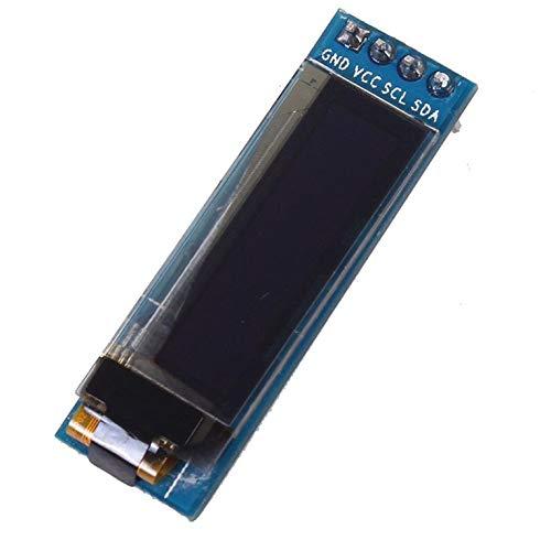 Iic I2c LED-Display-Modul für Arduino Pic, 2,3 cm (0,96 Zoll), 128 x 32, 3,3 V, 5 V, Weiß