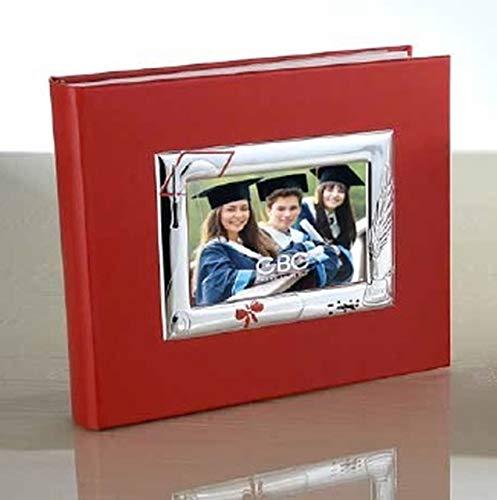 Album de Graduation en Argent 25x20 avec Cadre 9x13 cod.PF01962LU cm 25x20 by Varotto & Co.
