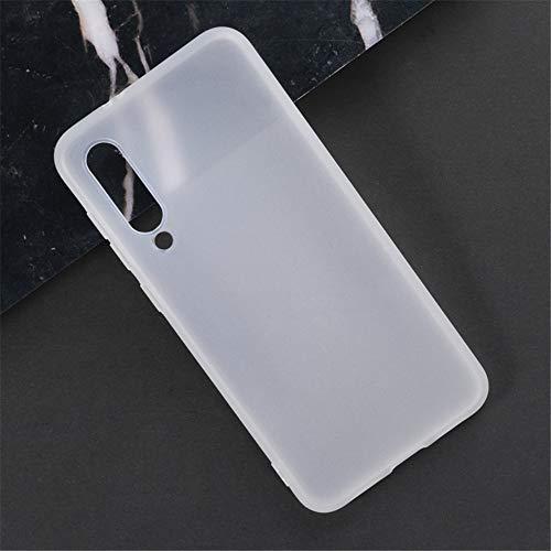 Capa para Xiaomi Mi 9 SE, capa traseira de TPU macia resistente a arranhões à prova de choque de borracha de gel de silicone anti-impressões digitais Capa protetora de corpo inteiro para Xiaomi Mi 9 SE (branca)