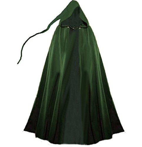 Dark Dreams Gothic Mittelalter LARP Umhang Mephisto , Größe:freesize;Farbe:grün