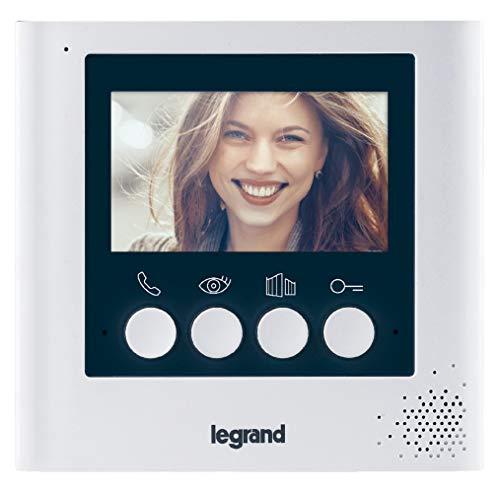 Legrand 369115 Monitor Interior videoportero 4,3 Pulgadas, 230 V, Blanco
