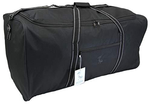 Extra grote XL Big Holdall reistas - 140 Liter zeer grote zwarte bagage cargo bags opslag, reizen of Wassen