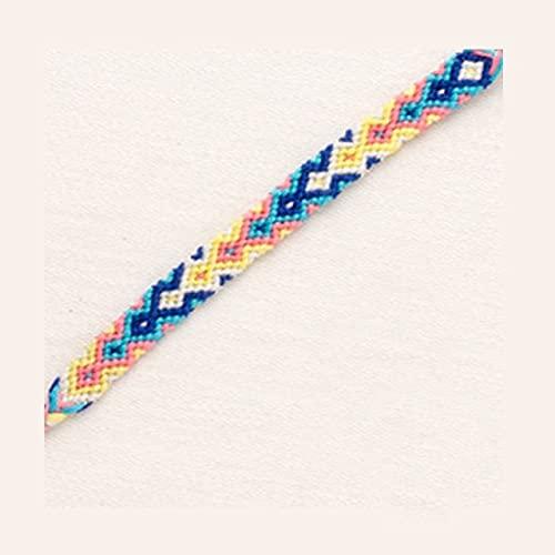 Longteng Pulsera de Hilo Bohemio Retro Hecho a Mano Boho Multicolor cordón Tejido Trenzado Hippie Pulseras de la Amistad Mujeres Hombres