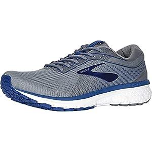 Brooks Men's Ghost 12 Running Shoe Grey/Alloy/Blue 8.5 2E US