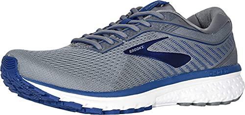 Brooks Men's Ghost 12 Running Shoe Grey/Alloy/Blue 11.5 2E US