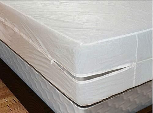 BEDDIANTAO Waterdichte Matrasbeschermer Cover Anti Bed Bug Wit Grootte 183X183Cm Glad Waterdicht Matrasbeschermer Encasement Cover Met Rits Doos Lente