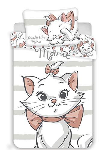 Marie Aristocats Baby Bettwäsche-Set 100x135 + 40x60cm Baby Baumwolle