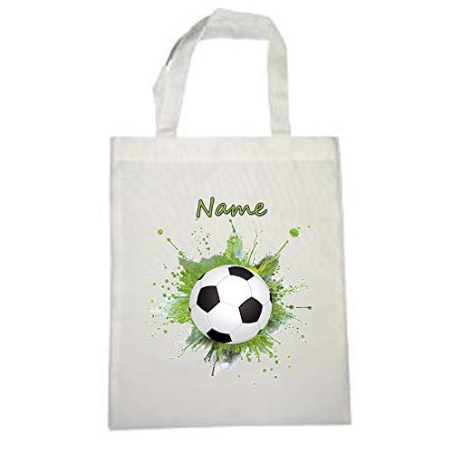 Fußball Stoffbeutel mit Name und Schriftartwahl
