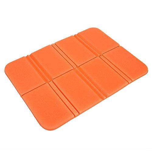 VGEBY1 Cojín Plegable Plegable del cojín del cojín de la Estera de la Comida campestre del Asiento Plegable portátil para la Comida campestre(Naranja)