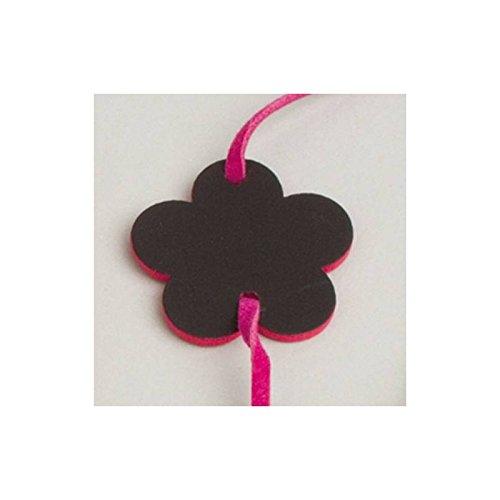 Aptafêtes 6 Bracelets Ardoise Fleur Rose Fuschia