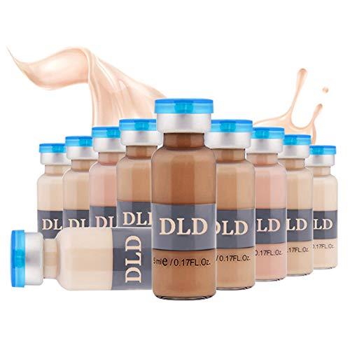 10 paket 5 ml BB Creme Weiß Whitening Serum Natürliche Naked Make Up Foundation Verwenden für (MTS) (Mischfarben)