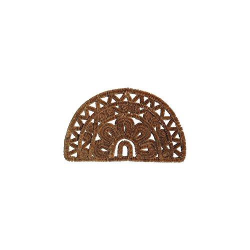 ID Mat deurmat kokosvezel, staal, beige, 75 x 45 cm