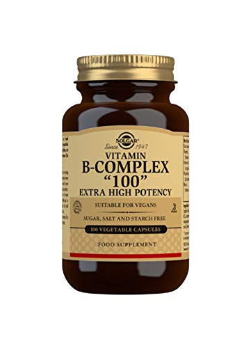 Solgar Vitamin B-Complex '100' Extra High Potency Vegetable Capsules - Pack of 100