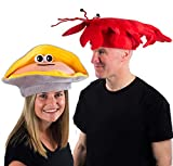 Tigerdoe Lobster Hat - Clam Hat - Under The Sea Hats - Fish Hats - Novelty Hats - Costume Hats - 2 Pack