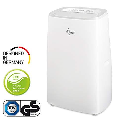 SUNTEC Climatiseur Mobile CoolFixx Eco R290 - Climatiseur Portable, Ventilateur, Déshumidificateur, Set Isolation fenêtre, Tuyau d'évacuation (CoolFixx 14000 Eco R290 - Avec Fonction Chauffage)