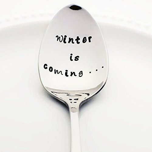 Game of Thrones: Winter is Coming (Option to Personalize with a Name) - Stainless Steel Stamped Spoon, Stamped Silverware - Geek Kitchen Accessories - Geek Gifts for Him