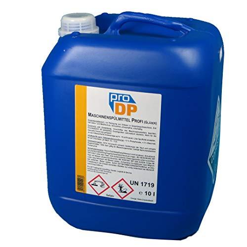10l Kanister Pro DP Profi Maschinenspülmittel Spezial Kurztakt Spülmittel für gewerbliche Gastro Gläser Spülmaschinen - Made in Germany