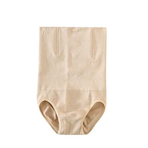 IZHH Damen Shapewear Shorts Brilliance Hohe Taille Höschen Mitte des Oberschenkels Body Shaper Bodysui Baumwolle Bauchhosen Kopf Abnehmen Formende Körperhosen Kunststoff Postpartum(Beige,2XL)