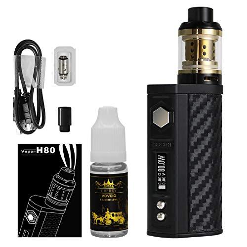 Cigarette Electronique Kit Complet 80W Mod kit,2300mAh Box Mod,Top Fill Atomiseur Résistance,1 E liquide+1 coil+1bouche,0.3oHm sans Nicotine