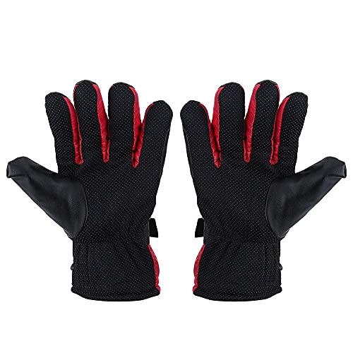 Keenso - Guanti riscaldati da moto, 12 V, per attività all'aperto, caccia, sci, corsa, invernali, impermeabili, antivento, per sport all'aperto