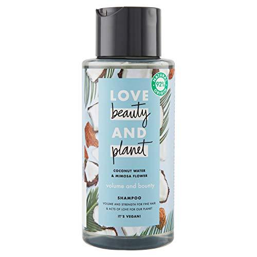 Love Beauty and Planet Volume & Bounty Shampooing Eau de Coco & Fleur de mimosa 400 ml