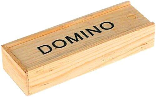 Dengofng Clásico Números Madera Dominós Juego para Clásico Números Dominó Juego - Madera, Free Size