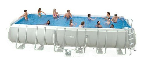 Frame Pool Set Ultra Quadra III (9,75 x 4,88 x 1,32 m, grau)