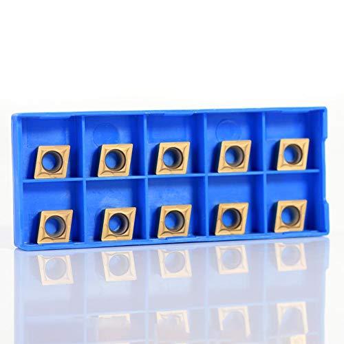 CNC Hartmetall Einsatzschneider, 10pcs Wendeschneid Drehmaschine Fräseinsätze Drehen Werkzeuge mit Box CCMT09t304 CCMT32.5