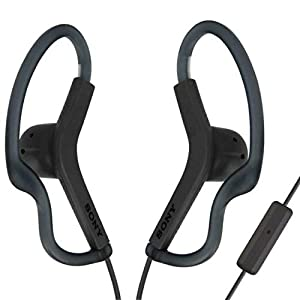 Sony Extra Bass Active Sports in Ear Ear Bud Over The Ear Splashproof Premium Headphones a Built-in mic Hands-Free Calls Dark Gray (Limited Edition)