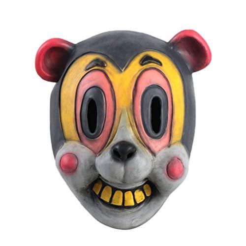 Maske für Halloween, Cosplay, Halloween, Cha Cha, Umbrella Academy Hazel Cha Cha Cosplay Helm Headgear Pro, Entspannen Sie die Nacht Ihres liebenswerten Hauses Party mit Ostermotiven