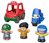 Fisher-Price Little People Share & Care Vehicle Gift Set with Police Motorcycle and Pizza Delivery Car