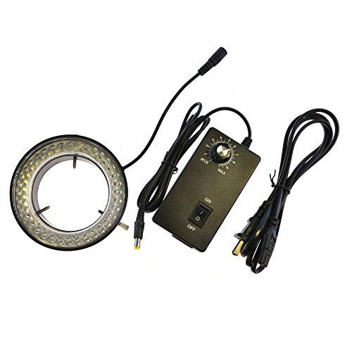 TOMALTIC 72mm LED Ring Light Trinocular Stereo Microscopes Light Source 72 LED Bulbs Adjustable Ring Light Illuminator Lamp